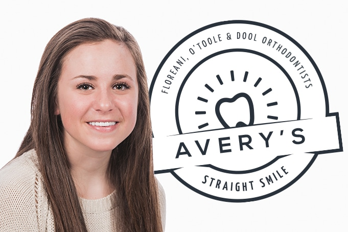 Young teenage girl smiling with straight teeth - patient