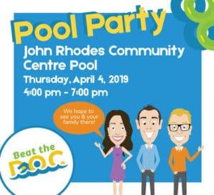 Pool Party John Rhodes Community Centre Pool